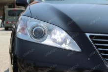 Lexus-ES350-9005-CREE-LED-high-beam-DRL-lights