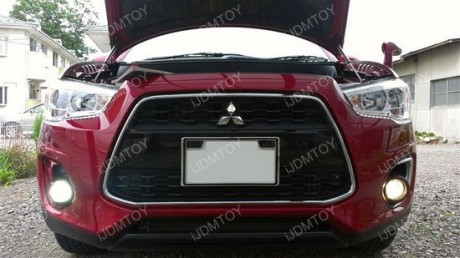 Mitsubishi Outlander with LED fog lights